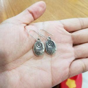 """Jewelry - """"Laugh often"""" / """"Love much"""" dangly earrings"""